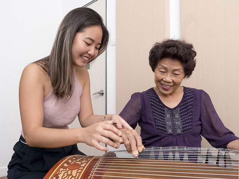 Guzheng lesson with teacher Jerica
