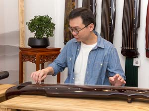 Our guqin teacher - Khoo Kiak En